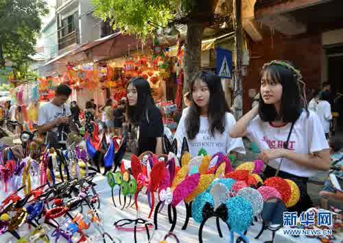 越南河内民众庆中秋