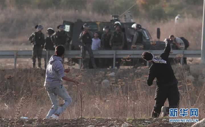 (国际)(1)巴勒斯坦民众游行集会抗议美国改变犹太人定居点政策